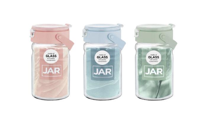 3 סט 6 צנצנות זכוכית במגוון גדלים לבחירה