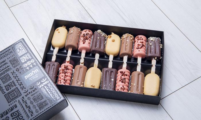 """2 מארזי גלידות בעבודת יד מ'שוקולוקו', ת""""א - אופציה למשלוח מהיום להיום"""