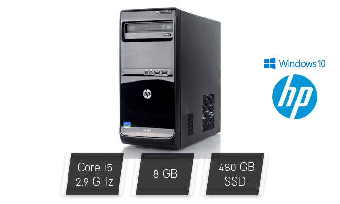 2 מחשב נייח מחודש HP דגם Pro 3400 עם זיכרון 8GB ומעבד i5