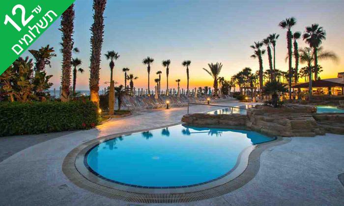 """8 פאפוס ע""""ב הכל כלול במלון Leonardo Cypris Bay עם כניסה לפארק מים"""