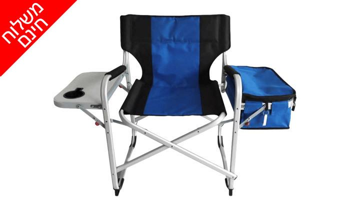 2 כיסא קמפינג עם צידנית מובנית Glamp - משלוח חינם