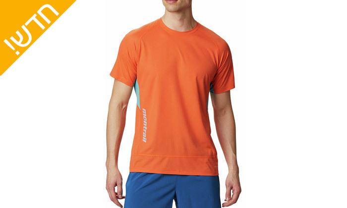 3 חולצת טי שירט מנדפת זיעה לגבר קולומביה Columbia - מידות וצבעים לבחירה