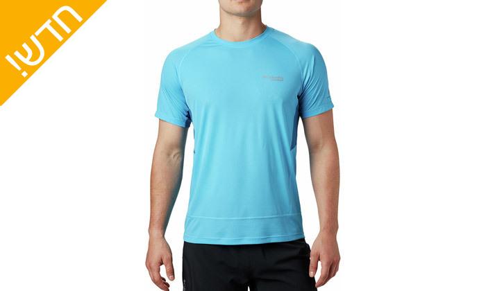 4 חולצת טי שירט מנדפת זיעה לגבר קולומביה Columbia - מידות וצבעים לבחירה