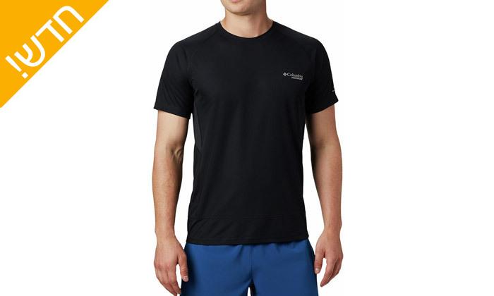 5 חולצת טי שירט מנדפת זיעה לגבר קולומביה Columbia - מידות וצבעים לבחירה