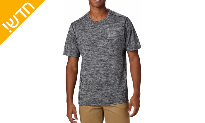 6 חולצת טי שירט מנדפת זיעה לגבר קולומביה Columbia - מידות וצבעים לבחירה