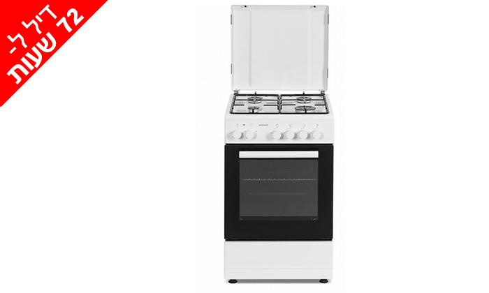 2 דיל לזמן מוגבל: תנור 50 ליטר עם כיריים גז Sonab בצבע לבן