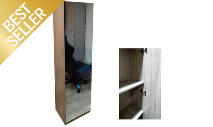 14 ארון מדפים עם דלת מראה Homax