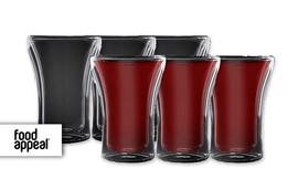 """6 כוסות 250 מ""""ל Double Glass"""