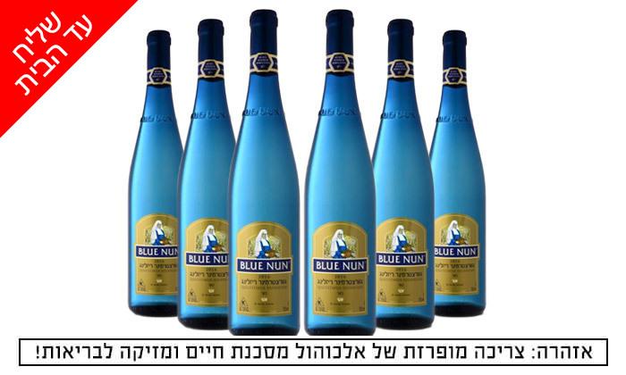 2 6 בקבוקי יין בלו נאן גווירצטרמינר ריזלינג כשר מטל משקאות