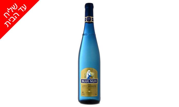 3 6 בקבוקי יין בלו נאן גווירצטרמינר ריזלינג כשר מטל משקאות