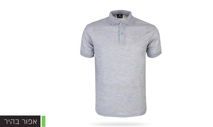 3 מארז 3 חולצות פולו שרוול קצר לגברים POLO CLUB - מידות וצבעים לבחירה