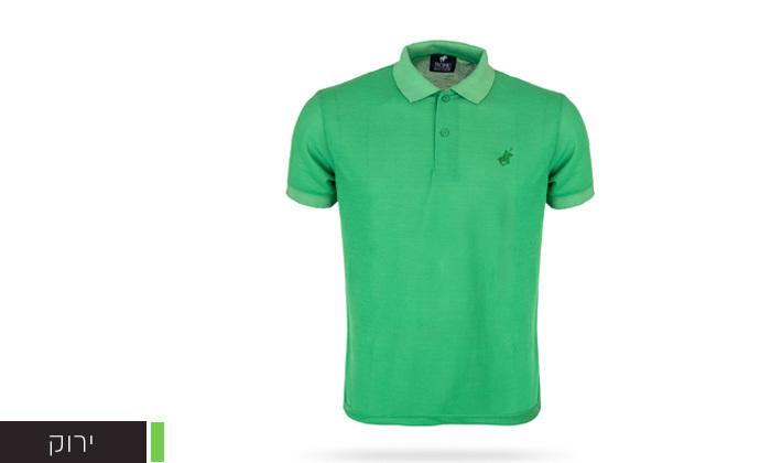 4 מארז 3 חולצות פולו שרוול קצר לגברים POLO CLUB - מידות וצבעים לבחירה