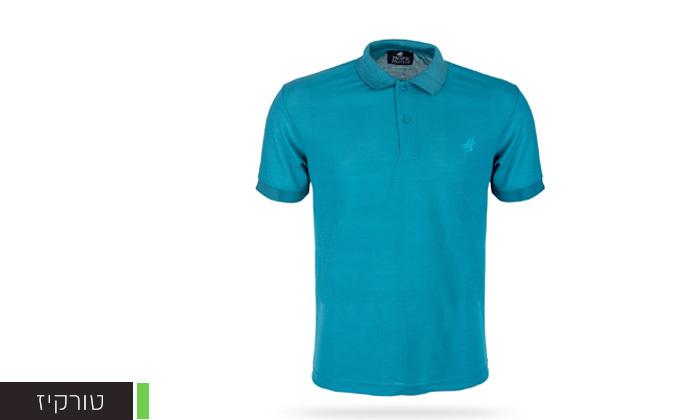 5 מארז 3 חולצות פולו שרוול קצר לגברים POLO CLUB - מידות וצבעים לבחירה