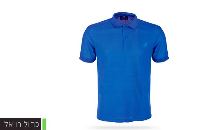 6 מארז 3 חולצות פולו שרוול קצר לגברים POLO CLUB - מידות וצבעים לבחירה