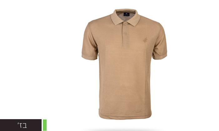10 מארז 3 חולצות פולו שרוול קצר לגברים POLO CLUB - מידות וצבעים לבחירה