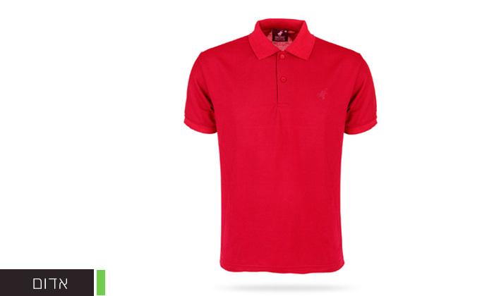 11 מארז 3 חולצות פולו שרוול קצר לגברים POLO CLUB - מידות וצבעים לבחירה
