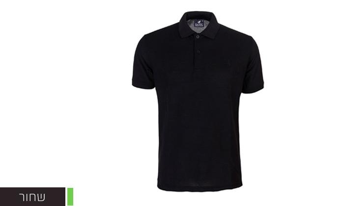 12 מארז 3 חולצות פולו שרוול קצר לגברים POLO CLUB - מידות וצבעים לבחירה