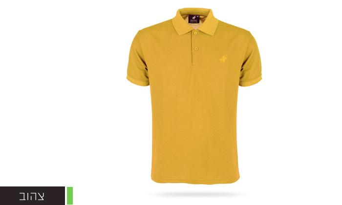 13 מארז 3 חולצות פולו שרוול קצר לגברים POLO CLUB - מידות וצבעים לבחירה