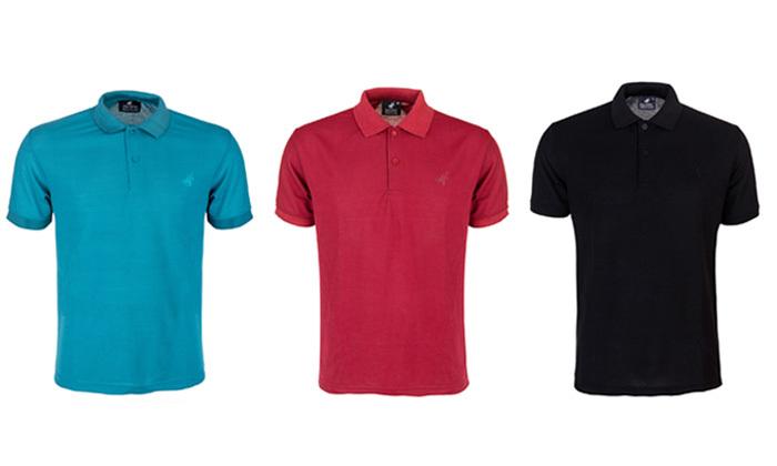 2 מארז 3 חולצות פולו שרוול קצר לגברים POLO CLUB - מידות וצבעים לבחירה