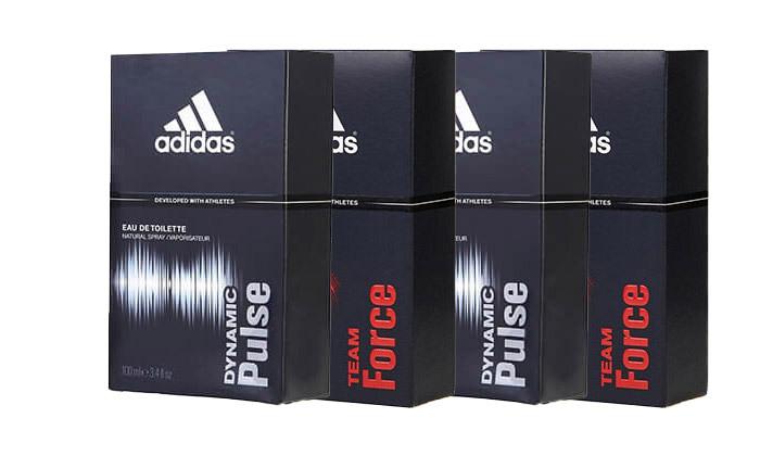 """2 מארז 4 בשמים לגבר אדידס adidas בנפח 100 מ""""ל EDT"""
