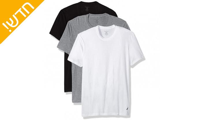 4 מארז 6 חולצות טי שירט נאוטיקה לגבר Nautica