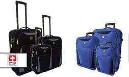 שלישיית מזוודות SWISS קלות במי