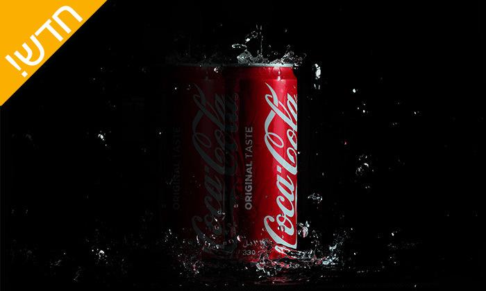 5 מארז 48/96 פחיות שתייה קוקה קולה/זירו Coca Cola