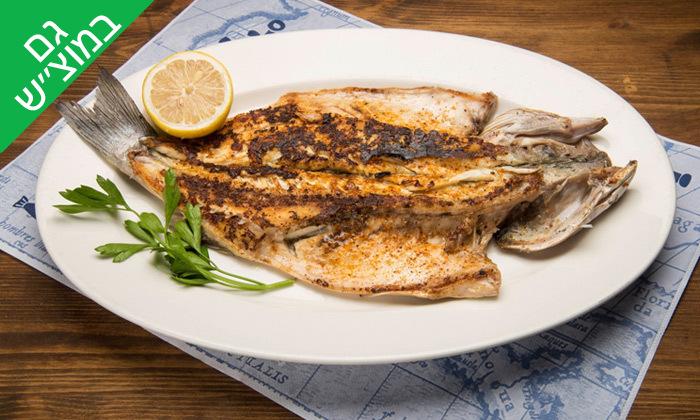 3 ארוחת דגים זוגית עם יין במסעדת פטרה ביץ', בת ים