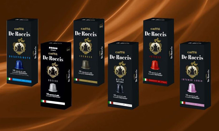 4 מארז טעימות: 100/200 קפסולות קפה איטלקי Caffe De Roccis