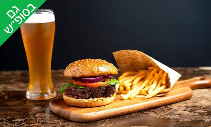 2 ארוחת המבורגר ובירה במנסי בורגר, אילת