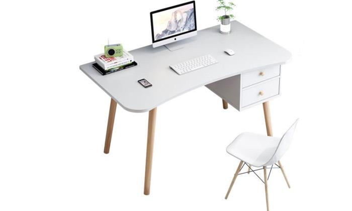 4 שולחן מחשב עם מדף ומגירות אחסון MY CASA