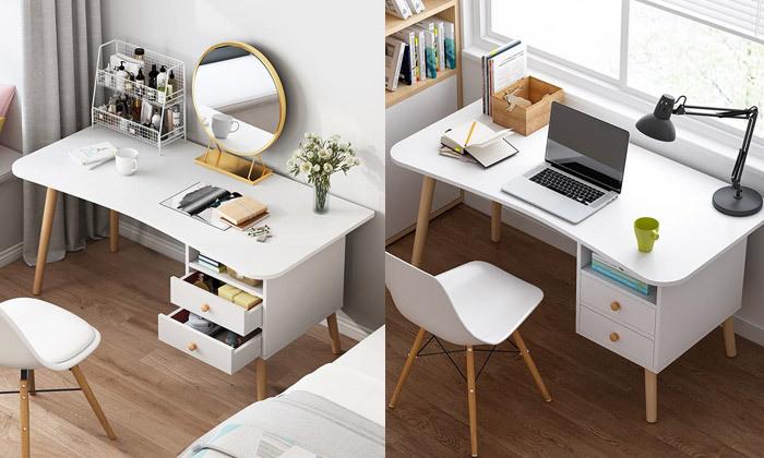 2 שולחן מחשב עם מדף ומגירות אחסון MY CASA