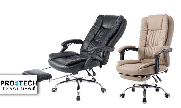2 כיסא מנהלים עם הדום,דגם GREG - צבע לבחירה