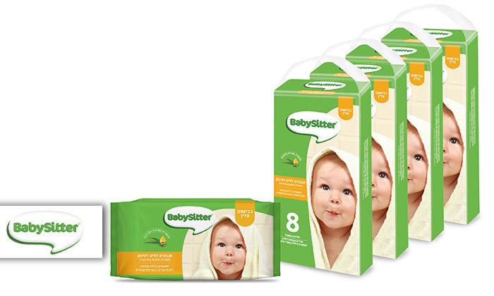 2 32 חבילות מגבוני BabySitter בבישום עדין, רק 3.1 ₪ לחבילה