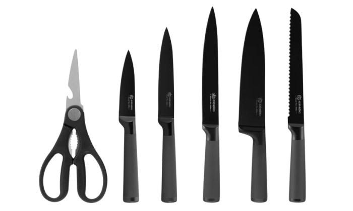 3 סט סכינים 8 חלקים כולל מעמד Edenberg