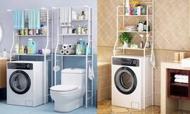 יחידת מדפים מעל מכונת הכביסה