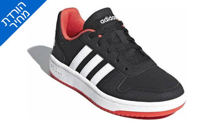 2 דיל לזמן מוגבל: נעלי סניקרס לנשים אדידס Adidas דגם HOOPS 2.0 K