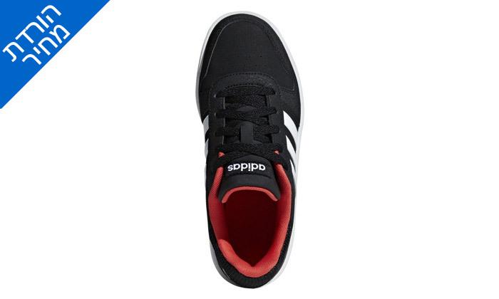 5 דיל לזמן מוגבל: נעלי סניקרס לנשים אדידס Adidas דגם HOOPS 2.0 K