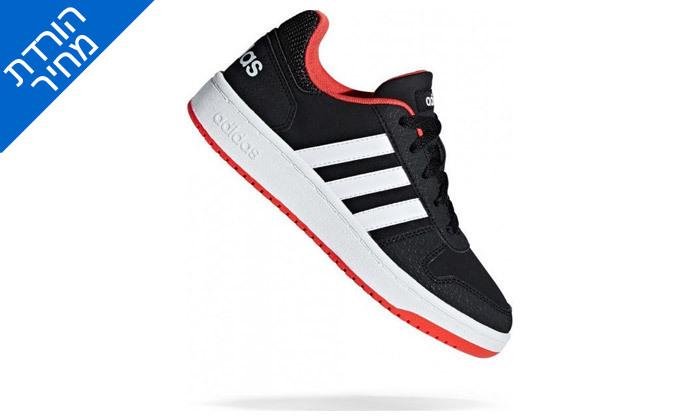 6 דיל לזמן מוגבל: נעלי סניקרס לנשים אדידס Adidas דגם HOOPS 2.0 K