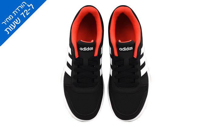 4 דיל לזמן מוגבל: נעלי סניקרס לילדים אדידס Adidas דגם HOOPS 2.0 K