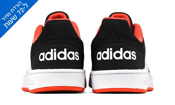 5 דיל לזמן מוגבל: נעלי סניקרס לילדים אדידס Adidas דגם HOOPS 2.0 K