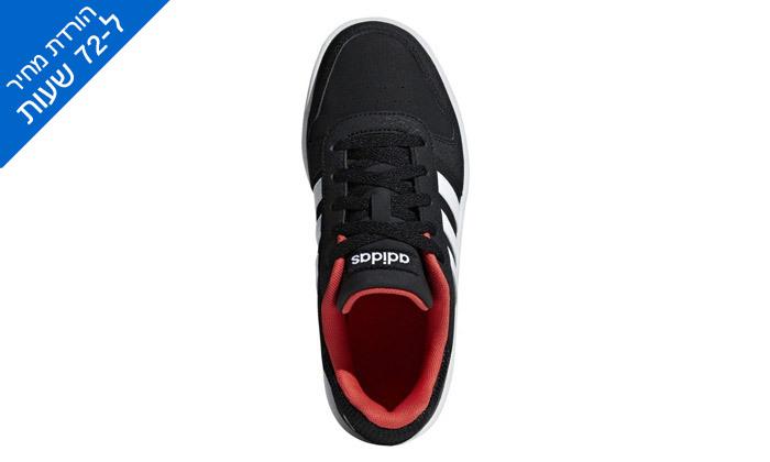 6 דיל לזמן מוגבל: נעלי סניקרס לילדים אדידס Adidas דגם HOOPS 2.0 K