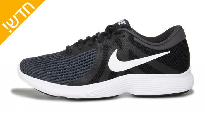 3 נעלי ספורט לנשים נייקי Nike דגםRevolution בצבע שחור