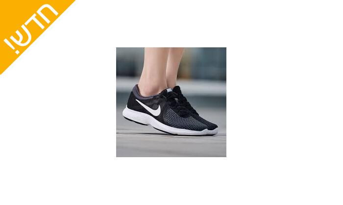 4 נעלי ספורט לנשים נייקי Nike דגםRevolution בצבע שחור