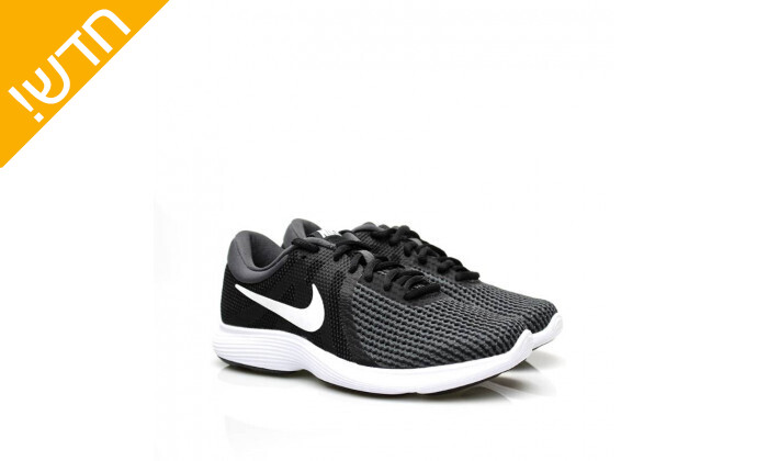 6 נעלי ספורט לנשים נייקי Nike דגםRevolution בצבע שחור