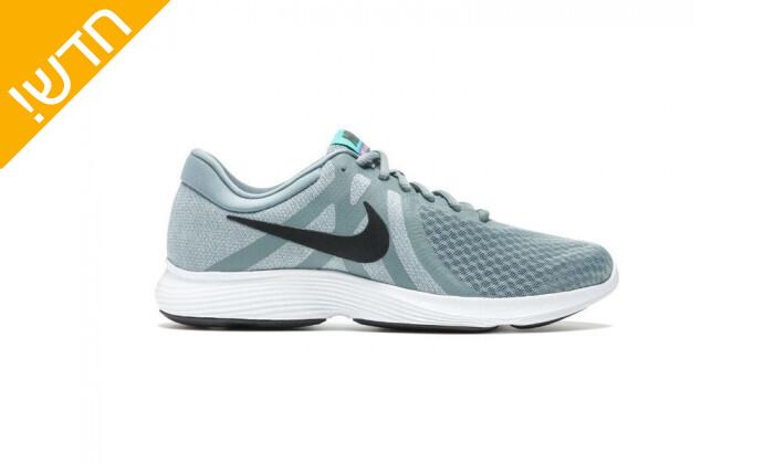 2 נעלי ספורט לנשים נייקי Nike דגםRevolution בצבע אפור