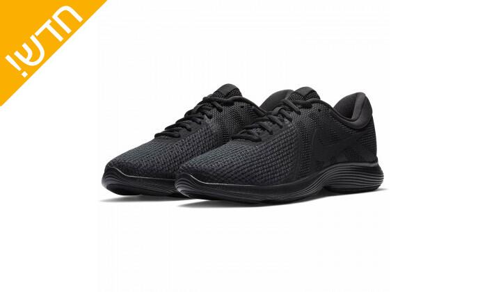 2 נעלי ספורט לגברים נייקי Nike דגםRevolution בצבע שחור