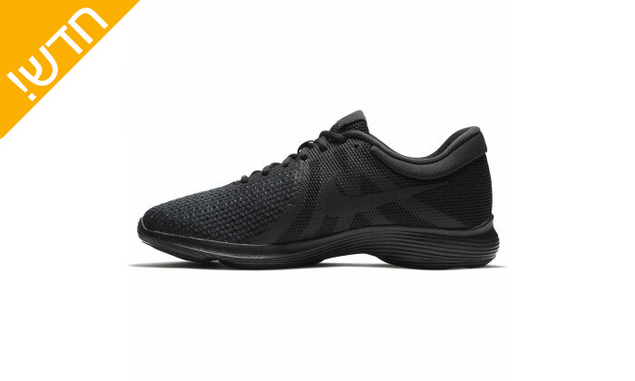 3 נעלי ספורט לגברים נייקי Nike דגםRevolution בצבע שחור