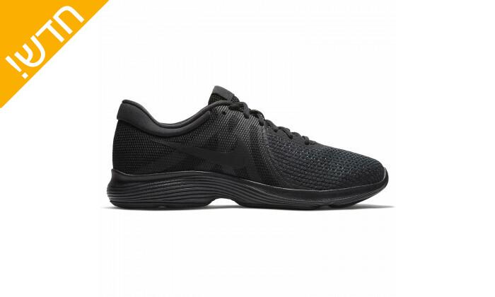 4 נעלי ספורט לגברים נייקי Nike דגםRevolution בצבע שחור
