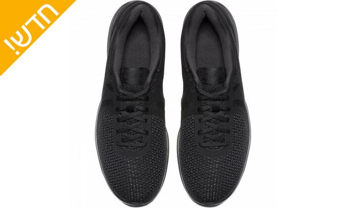 6 נעלי ספורט לגברים נייקי Nike דגםRevolution בצבע שחור